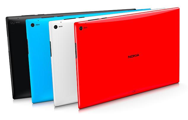 O Lumia 2520 encontra-se disponível em 4 cores