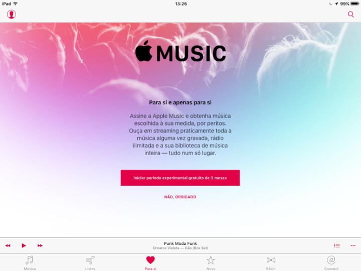 Apple Music grátis Spotify grátis o futuro é mac