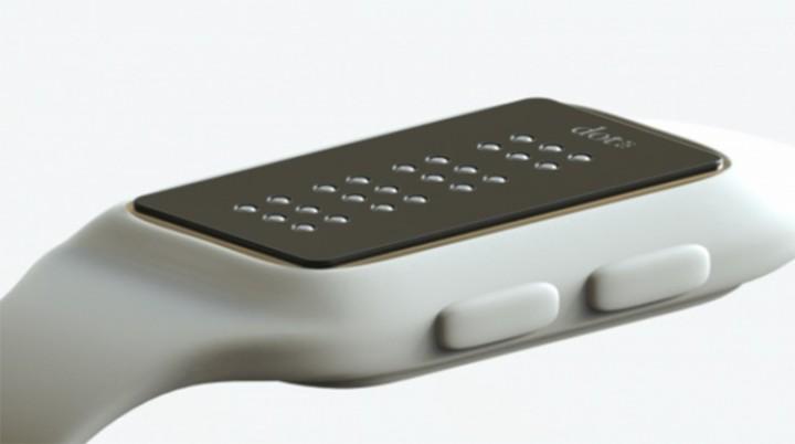 Este relógio inteligente em braille irá facilitar a vida aos deficiente visuais