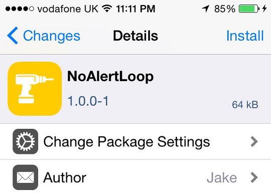 NoAlertLoop tweak cydia bloquear popups o futuro é mac
