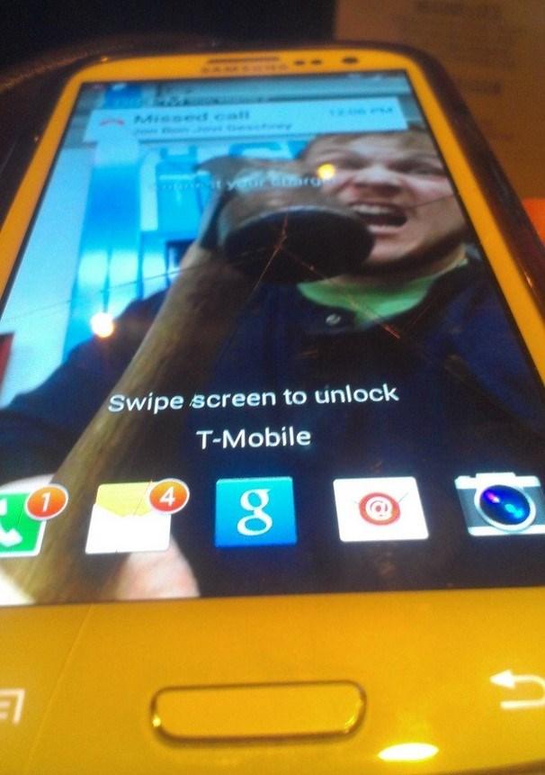 Samsung ecrã partido o futuro é mac