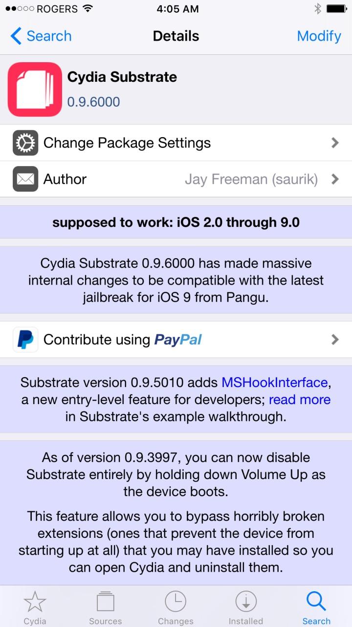 Saurik actualizou o Cydia para se tornar compatível com o jailbreak do iOS 9