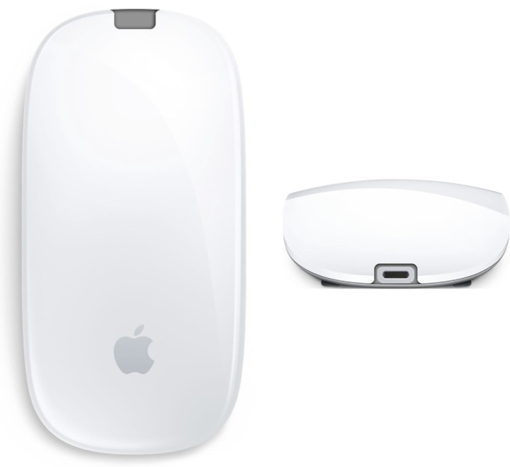 A posição correcta do carregador do Magic Mouse 2 deveria ser esta