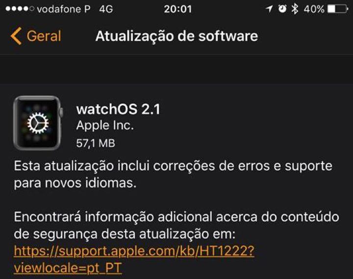 watch OS 2.1 novidades o futuro é mac