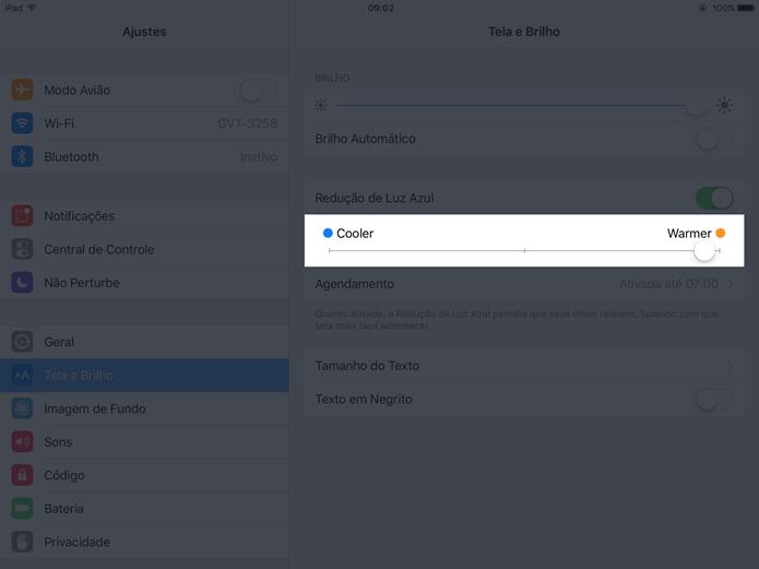 configurar night shift o futuro é mac