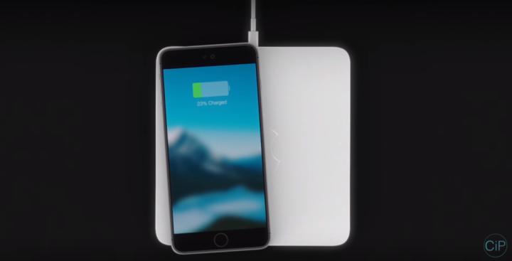 Carregamento sem fios iphone 7 conceito o futuro é mac