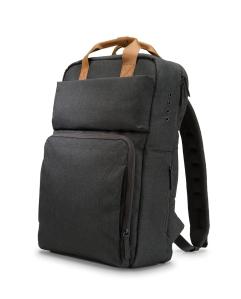 hp powerup backpack powerbank mochila lateral o futuro é mac