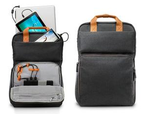 hp powerup backpack powerbank mochila o futuro é mac