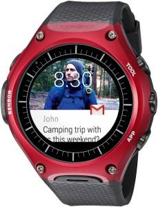 relógio casio wsd-f10 smart outdoor watch red showcase o futuro é mac